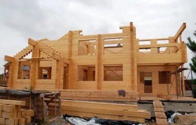 Этапы строительства дома из клееного бруса